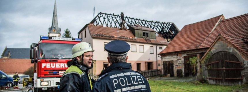 Feuer in geplanter Flüchtlingsunterkunft