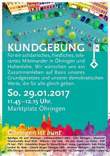 Kundgebung in Öhringen